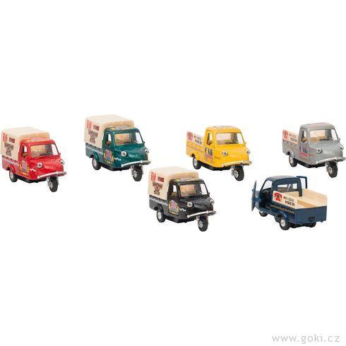 Mini auta stříkolovým podvozkem, setrvačník - Goki