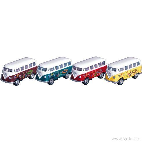 VWMicrobus (1962), mikrobus spotiskem, setrvačník, měřítko 1:64 - Goki