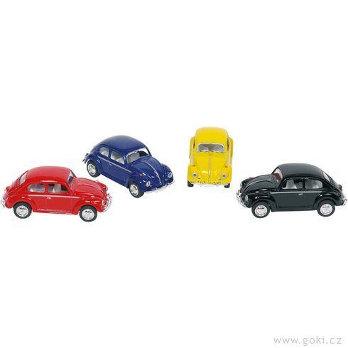 Volkswagen Brouk (1967) sezpětným natahováním, měřítko 1:64 - Goki