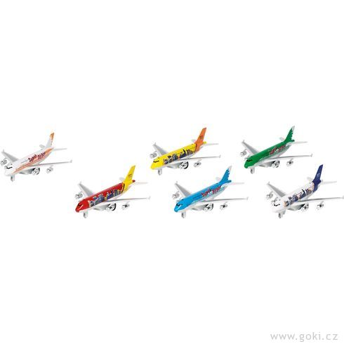 Letadla sezvukem asvětlem azpětným natahováním - Goki