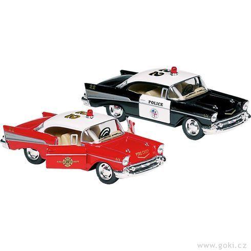 Chevrolet BelAir(1957) sezpětným natahováním, měřítko 1:40 - Goki