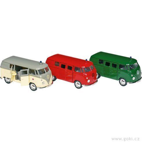 Volkswagen Microbus (1962) sezpětným natahováním, měřítko 1:34-39 - Goki