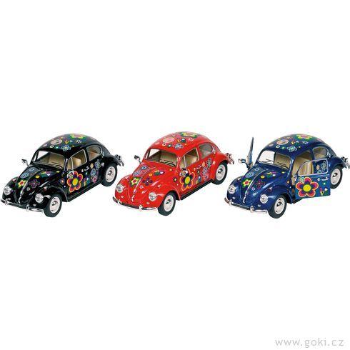 Volkswagen Brouk (1967) spotiskem, volnoběh, měřítko 1:24 - Goki