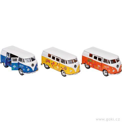 Volkswagen Microbus (1962) spotiskem nasetrvačník, měřítko 1:34-39 - Goki