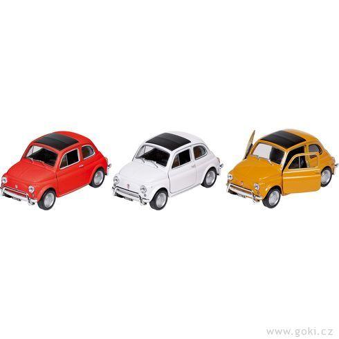 Fiat Nuova 500sezpětným natahováním, měřítko 1:34-39 - Goki