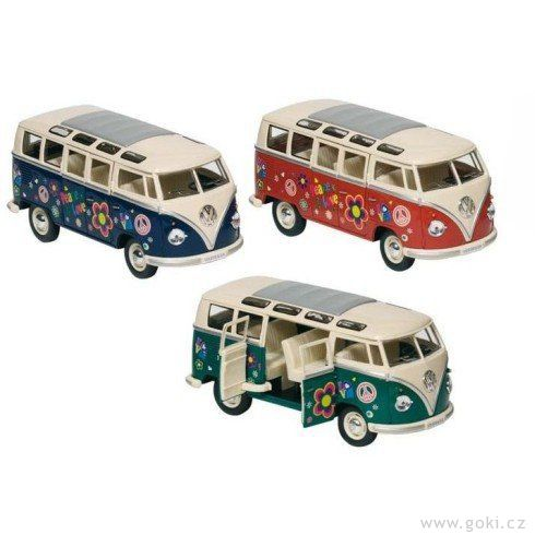 Volkswagen Microbus spotiskem, volnoběh, měřítko 1:24 - Goki