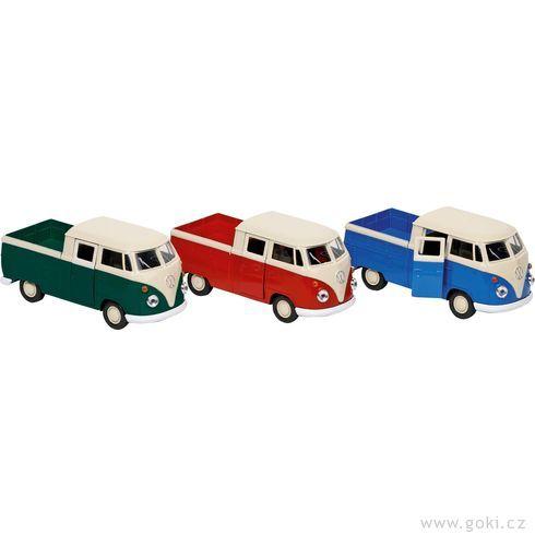 Volkswagen T1DoKa Pick-up sezpětným natahováním, měřítko 1:38 - Goki