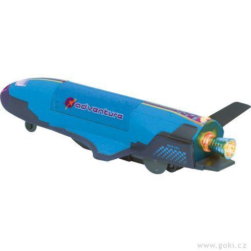 Raketoplán Space Shuttle sesvětlem azvukem, 18,5 cm,setrvačník - Goki