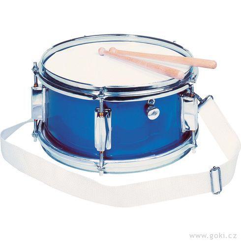 Kovový bubínek modrý, snare, 28cm - Goki