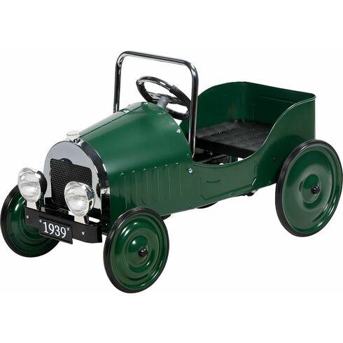 Kovové šlapací auto s gumovými koly, replika z roku 1939 - Goki