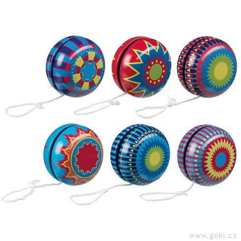 Plechové jojo – nostalgická hračka, 5,5cm - Goki