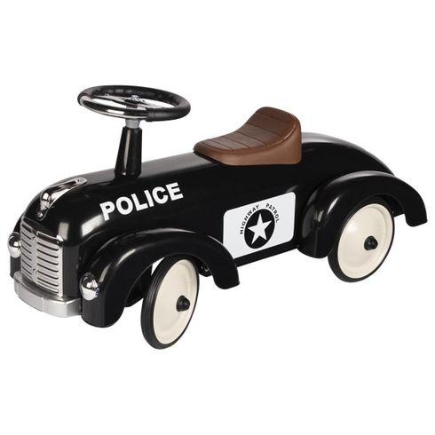 Odrážedlo – odstrkovadlo Černé policejní auto - Goki