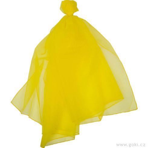 Šifonový šátek – žlutý 140x140cm - Goki
