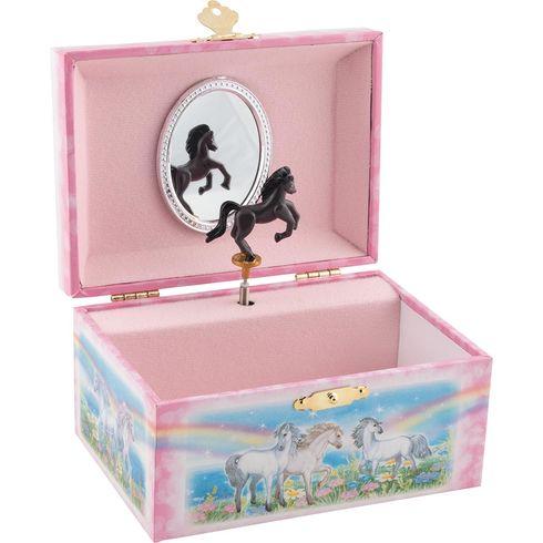 Hrací skříňka – černý koník - Goki