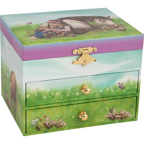 Hrací skříňka – tmavý koník - Goki