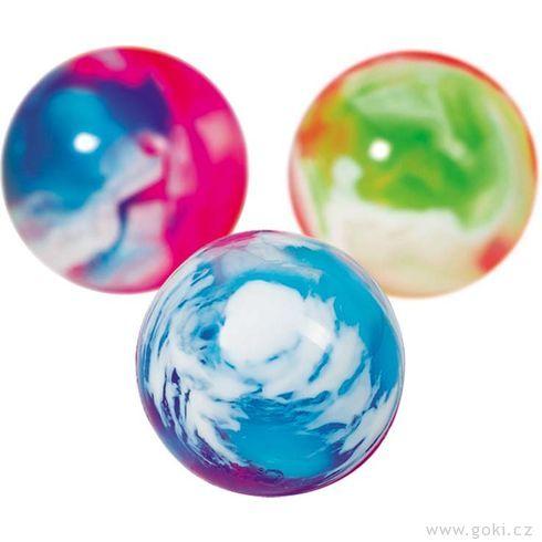 Skákací míček – Mramor barevný II - Goki