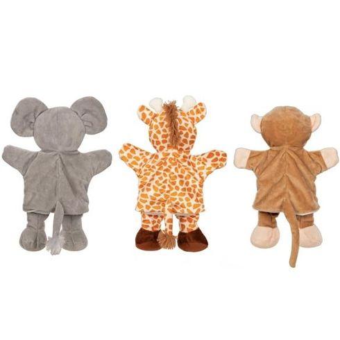 Maňásek naruku –slon, žirafa aopice - Goki