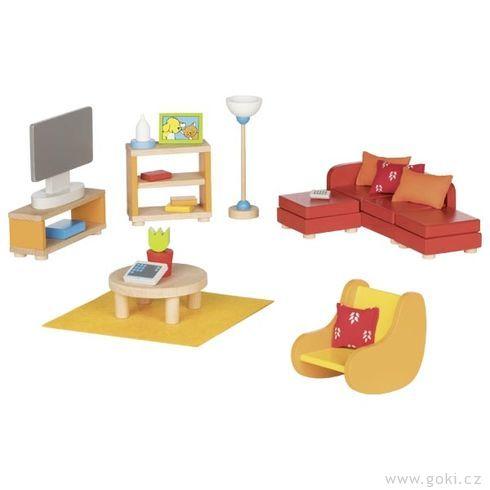Obývací pokoj – nábytek dodomečku propanenky, 23díly - Goki