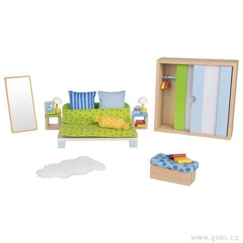 Ložnice – nábytek dodomečku propanenky, 23díly - Goki