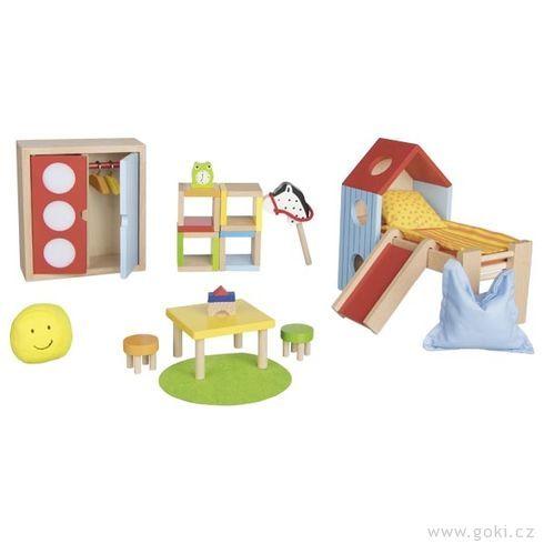 Dětský pokojíček – nábytek dodomečku propanenky, 24díly - Goki