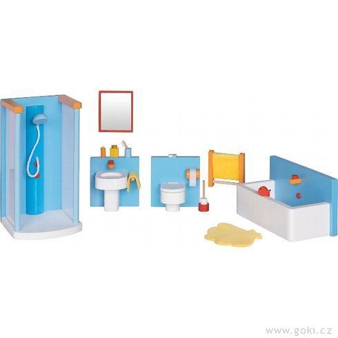 Koupelna – nábytek dodomečku propanenky, 16dílů - Goki