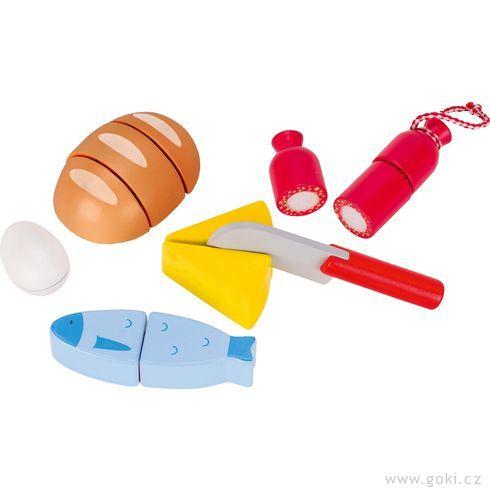 Lahůdky nasuchý zipkřezání – dětská kuchyňka, 13dílů - Goki