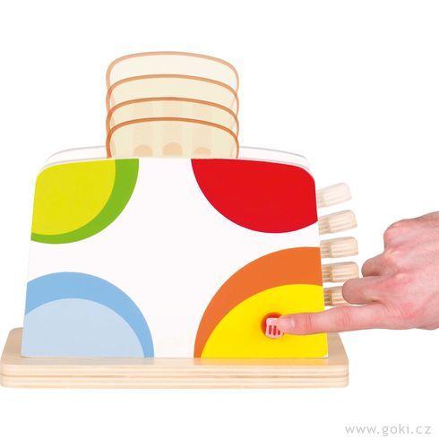 Toustovač spříslušenstvím – dětské nádobí dokuchyňky - Goki