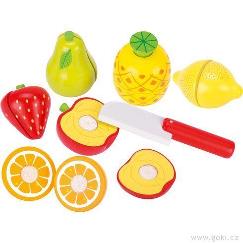 Ovoce nasuchý zipkřezání – dětská kuchyňka, 13dílů - Goki