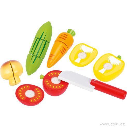 Zelenina nasuchý zipkřezání – dětská kuchyňka, 12dílů - Goki