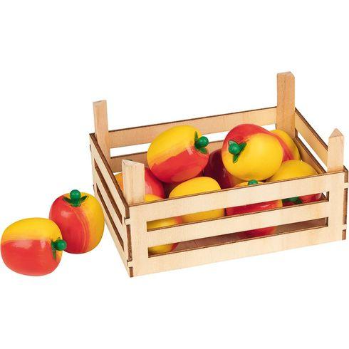 Jablka vdřevěné přepravce, 10ks - Goki