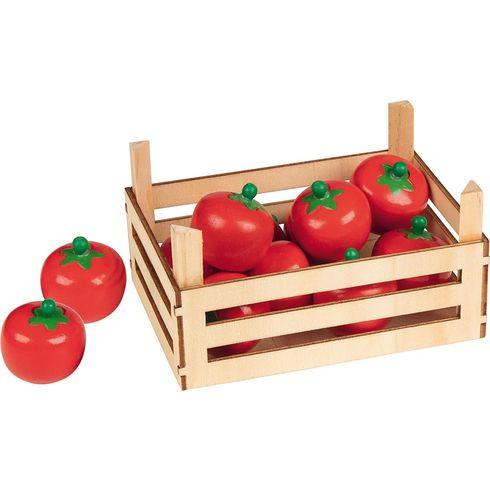Rajčata vdřevěné přepravce, 10ks - Goki