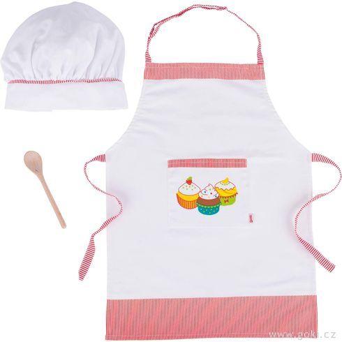 Kuchyňská zástěrka, čepice avařečka, sada - Goki