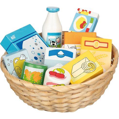 Dětský krámek – miniatury potraviny apotřeby dodomácnosti, 10ks - Goki