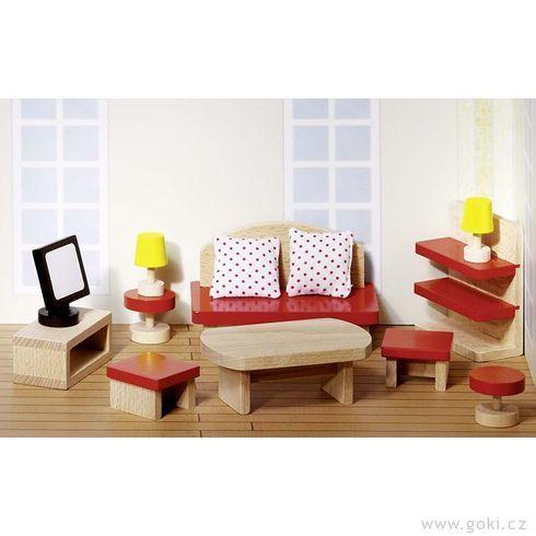 Domeček propanenky – obývací pokoj BASIC, 13dílů - Goki