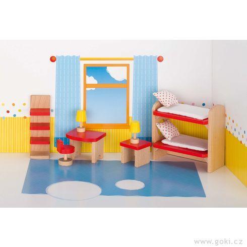 Domeček propanenky – dětský pokoj BASIC, 11dílů - Goki