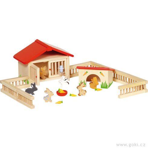 Dřevěná ohrada akrálíčci - Goki