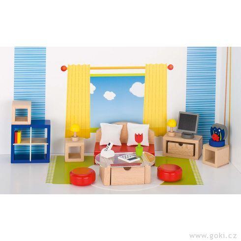 Nábytek propanenky – obývací pokoj TREND, 28dílů - Goki