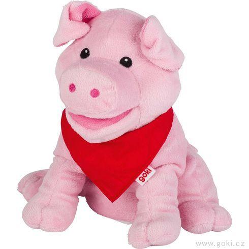 Maňásek naruku – růžové prasátko Snelly - Goki