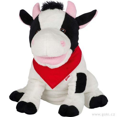 Maňásek naruku – strakatá kravička Karry - Goki