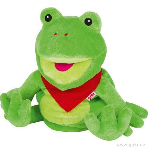 Maňásek naruku – zelený žabák Frilo  - Goki