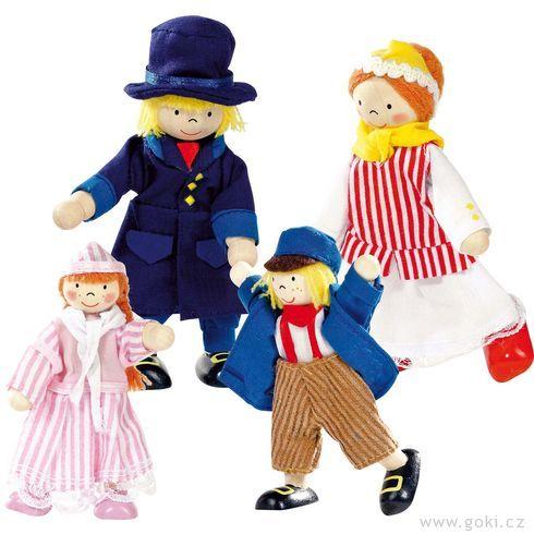 Panenky dodomečku – rodina obchodníka, 4ks - Goki
