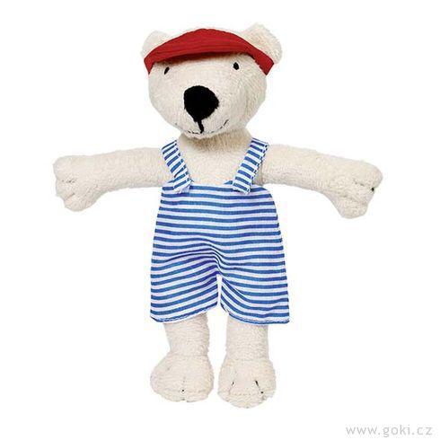 Látkový medvídek Tinba soblečky, 18cm - Goki