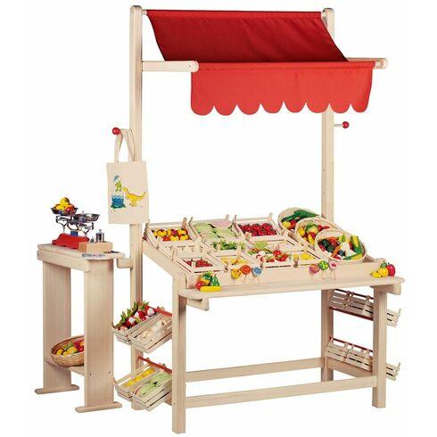 Prodejní krámek sčervenou střechou - Goki