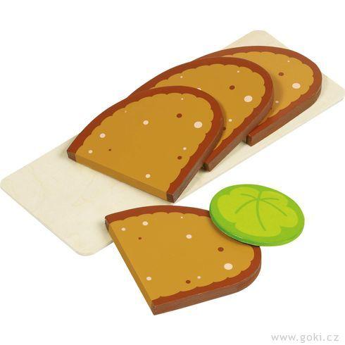 Doplňky prodětskou kuchyňku – plátky chleba naprkýnku - Goki