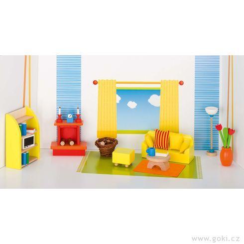 Nábytek propanenky – obývací pokoj MODERNÍ, 24dílů - Goki