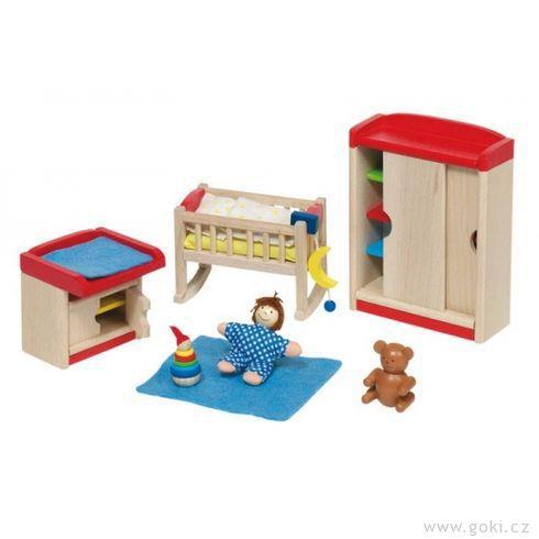 Nábytek propanenky – dětský pokoj MODERNÍ, 12dílů - Goki