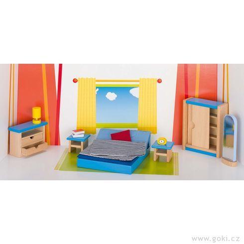 Nábytek propanenky – ložnice MODERNÍ, 14dílů - Goki