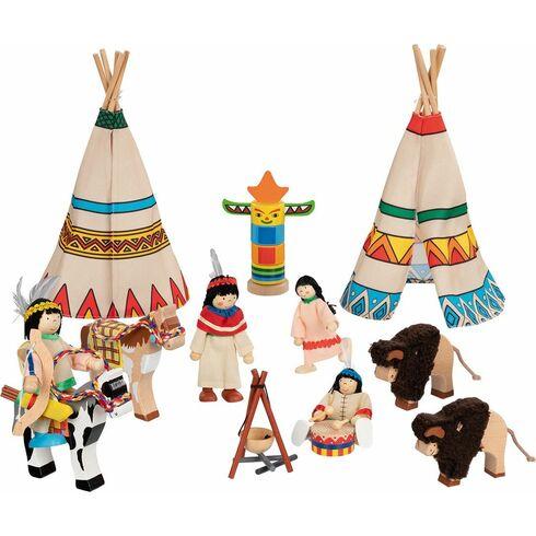 Panenky dodomečku – indiáni, 14dílů - Goki