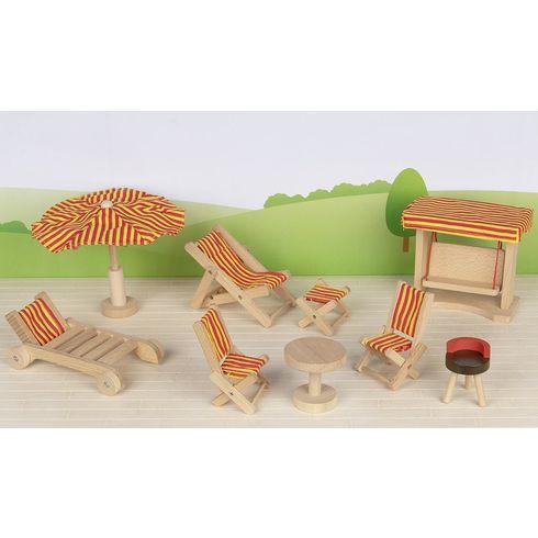 Nábytek propanenky – zahradní nábytek, 9dílů - Goki