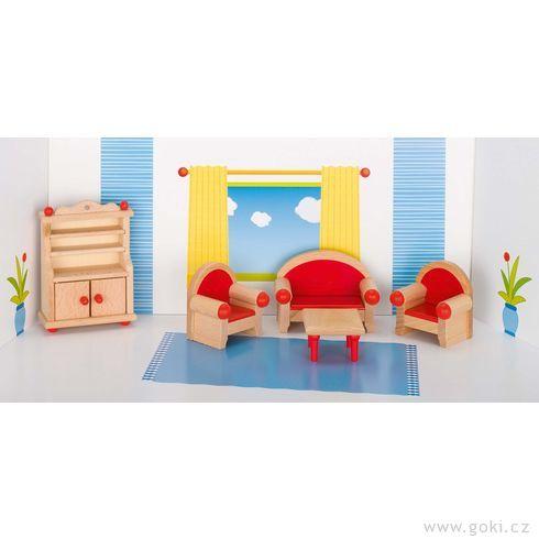 Nábytek propanenky – obývací pokoj STYLOVÝ, 5dílů - Goki